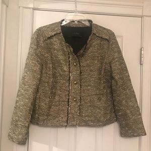 Zara Gold tweed blazer